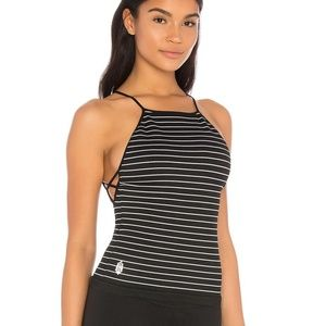 Free People Movement New Dawn Striped Knit Top NWT